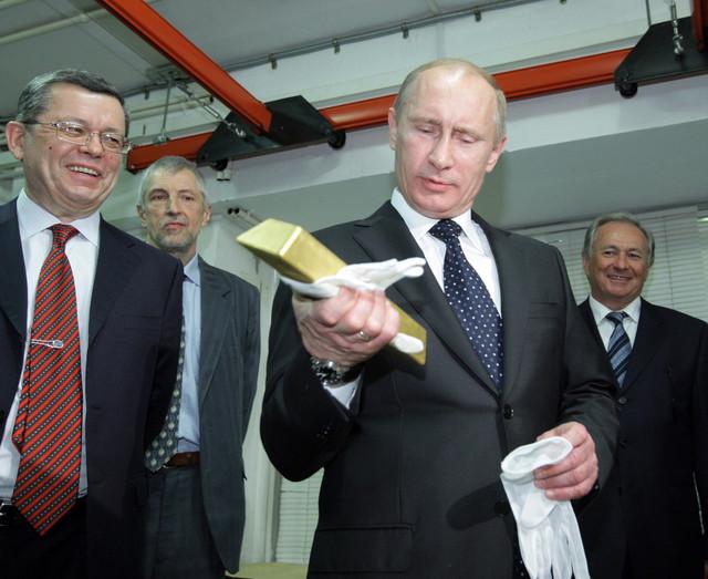 Блумберг о золоте Путина